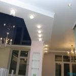 Натяжной потолок на кухню фото 1