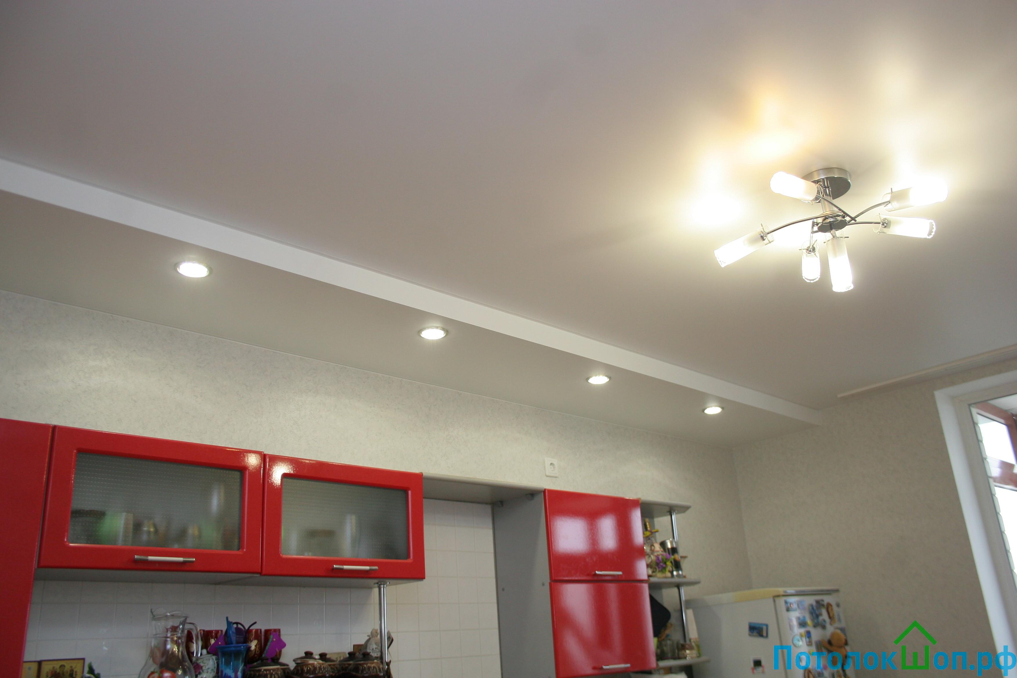Двухуровневый потолок на кухню